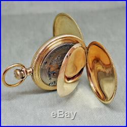 Beautiful Hamilton Grade 925 18s M#2 17j Hunter Case Pocket Watch C. 1901 -runs