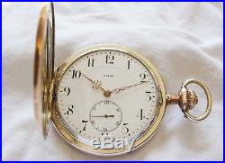 Beautiful Silver Omega hunter case pocket watch