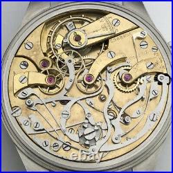 Big Swiss Military Chronograph Marriage Luxury Wristwatch Steel Case Pilots WW2