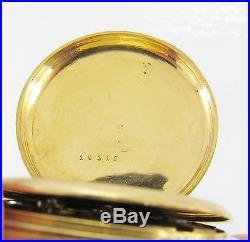 Breguet Gold Pocket Hunters Case Pocket Watch, Key Wind and Set