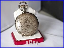 C. 1882 AWC PS Bartlett 18 size Full Hunter Coin Silver Case Overhauled
