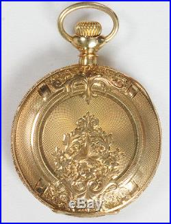 C R Smith & Son Philadelphia 14k Gold Hunter Case 17 Jewel 3 Size Pocket Watch