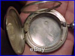 CIVIL WAR STYLE ENGRAVED EAGLE SILVER 18s HUNTER CASE ANTIQUE POCKET WATCH CASE