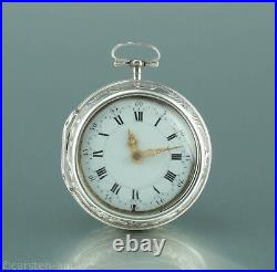 Charles Cabrier 1725 Important Onion pair case Repousse verge watch