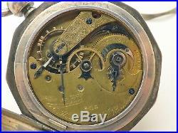 Circa 1865 Antique E. Howard Key Wind Pocket Watch Decagon Case Civil War Era