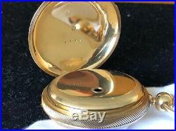 Civil War Waltham pocket watch Gold Case SN 148,602
