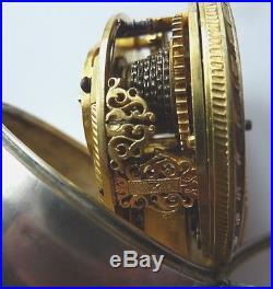 Debeaufre-London, around 1730, pair case fusee pocket watch