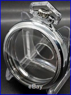 Display Salesman 18s Silver Pocket Watch CASE Railroad, Lever Set, or Stem Set