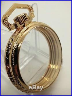 Display Salesman Size 16s GP Pocket Watch CASE Railroad, Lever Set, or Stem Set