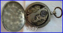 Domina Digital Type Pocket Watch open face argentan case 55 mm. In diameter