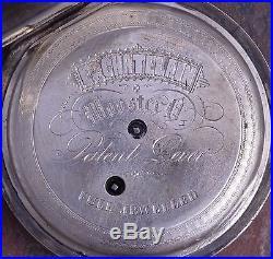 E Chatelain 1860s Vintage Fancy Engraved KW Movement 61mm Fine Silver Case Runs
