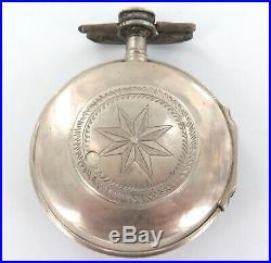 EARLY 1800s J RIEL STADTAMHOF GERMANY LARGE PAIR CASED VERGE FUSEE POCKET WATCH