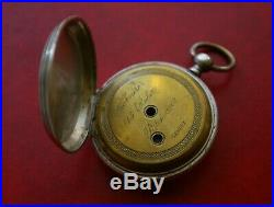EARLY PATEK PHILIPPE SILVER POCKET WATCH CASE, ANCRE 15 RUBIS PATEK & Cie GENEVE