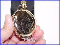 ELGIN 18S Box Hinged Hunter Case Pocket Watch