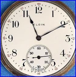 ELGIN 1914, 12s, 15j, Open Face Pocket Watch, GF Case RUNNING! NR! BEAUTIFUL