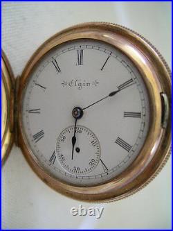 ELGIN Gold Filled HUNTER CASE 7 Jewel POCKET WATCH