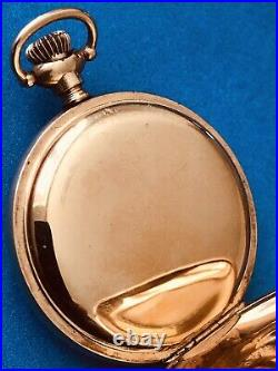 EXCELLENT COND. VINTAGE ELGIN FANCY DIAL GF Grade 269 7J Hunter Case Pocket Watch