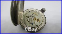 Early Elgin KW Nickel Movement KW Keywind 4oz Coin Silver Drum Hunter Case Watch