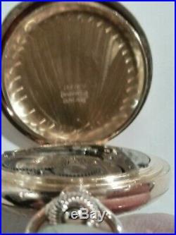 Elgin 0 size (1901) 7 jewels fancy dial grade 269 14K. Gold filled hunter case