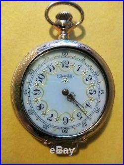 Elgin 0S. (1897) 7 jewels Mint Fancy Dial 14K. Gold filled case restored