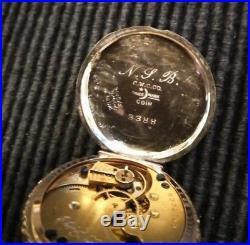 Elgin 0s. Great fancy dial 15 jewels multi-color Sterling silver case restored