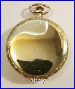 Elgin 12 size 17 jewel grade 345 fancy dial (1925) ART DECO 14K. G. F. Case