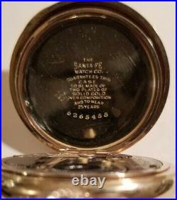 Elgin 12S 17 jewel Knight of Columbus enameled matching cigar nipper hunter case