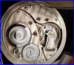 Elgin 12s OF Pocket Watch, 17j 6POS, GJS Solid 14k Gold Case, Fob & Knife Ca. 1925