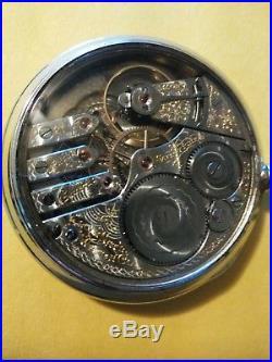 Elgin 16S. (1902) 21 jewels grade No. 270 Gold Train 3 finger bridge display case