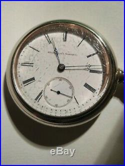 Elgin (1885) 18S. H. H. Taylor 15 jewels grade 80 railroad watch nickel case