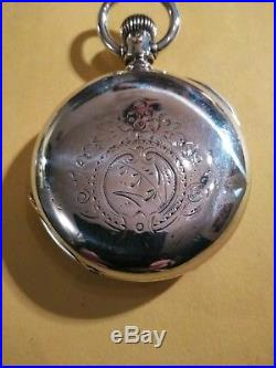 Elgin 18S. H. H. Tayler 15 jewels Railroad Grade 4 OZ. Coin Silver Hunter Case