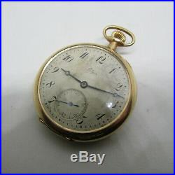 Elgin 19 Jewel BW Raymond Pocket Watch Scarce Elgin Gold Filled case runs