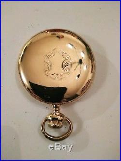 Elgin 6/12S. (1909) 15 jewel very fancy dial 14K gold filled case restored