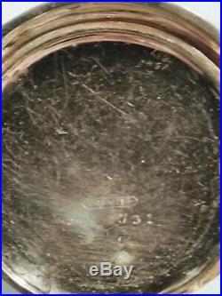 Elgin 6 size 7 jewels mint fancy dial grade 286 gold filled hunter case
