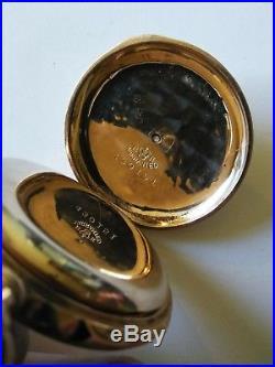 Elgin 6S. 15 jewel mint fancy dial multi-color 14K Diamond hunter case restored
