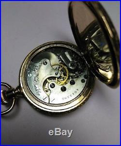 Elgin 6s. Great fancy dial 11 jewels near mint gold filled case restored