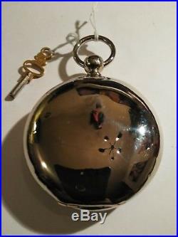 Elgin 7 jewels (1888) Key Wind key set silverode case restored with keys