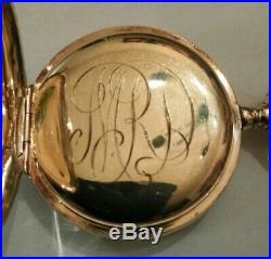 Elgin 7 jewels mint fancy dial (1907) grade 320 14K. Gold Filled case