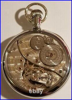 Elgin B. W. Raymond 16S. 19J. Adj. Mint Super Fancy Dial (1912) display case