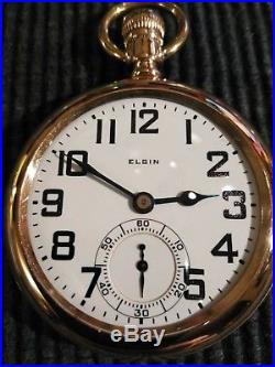 Elgin B. W. Raymond 21 jewels Railroad watch gold filled case restored