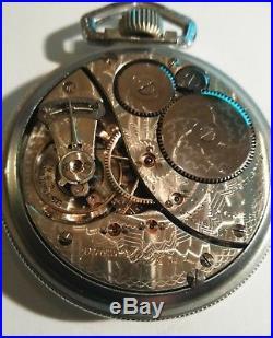 Elgin B. W. Raymond Montgomery dial 19 jewels Railroad watch base case restored