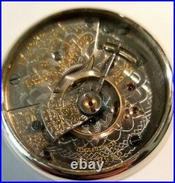 Elgin Father Time 18S 21 jewels adj. Mint Super Fancy Dial (1902) display case