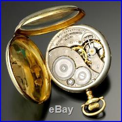 Elgin Gold Pocket Watch Ca1920 Size 12 14k Gold Case
