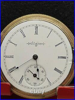Elgin Grade 210 Pocket Watch 16s 7j Hunter Case Runs