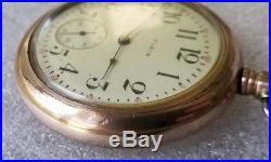 Elgin Grade 313 Pocket Watch 15j 16s 20 yr gf swingout case ticking model 7 F236