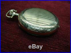 Elgin Hunt Case Pocket Watch With 20 Yr. Gf Fancy Case Grade 291 7 Jewels