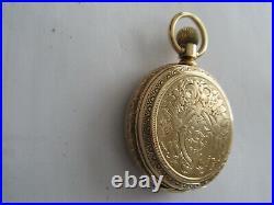 Elgin18 Size, Grade 80,15 J Railroad Grade Pocket Watch Waltham 14 K Gold Case