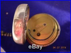 English Pair Case Pocket Watch Sterling Silver
