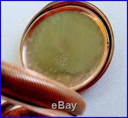 FINE 10k GOLD LADIES HUNTING CASE POCKET WATCH ELGIN FOR MARSHALL FIELD CO 1895