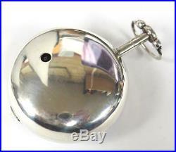 Georgian Pair Cased Pocket Watch Fusee Verge Solid Silver Pocket Watch C1795